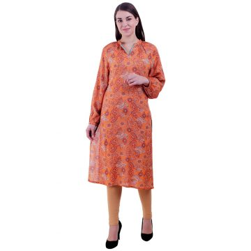 Women Traditional Wear Orange Kurti (Panzy)