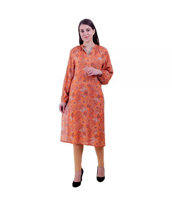 Women Traditional Wear Orange Kurti (Panzy)