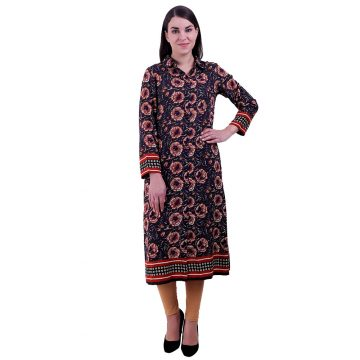 Women Multi Color A Line Kurti (Dhaliya)