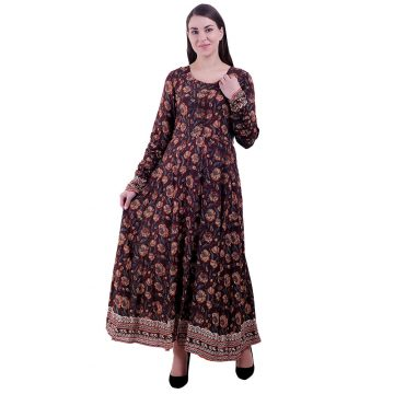 Women Multi Color Flared Anarkali Kurti (Lily)