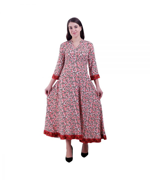 Multi Color Anarkali Kurti For Women (Champa)