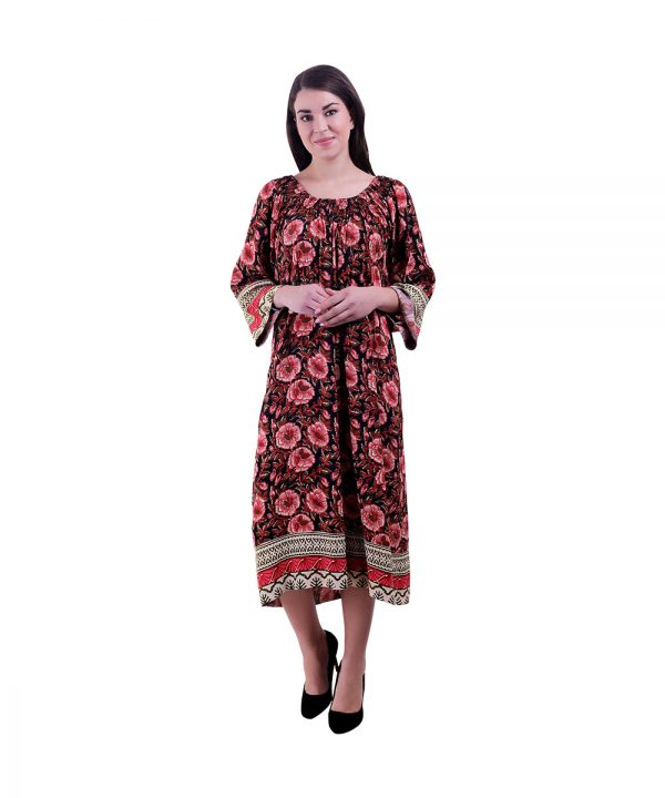 Women Multi Color Kurta(Hibiscus)