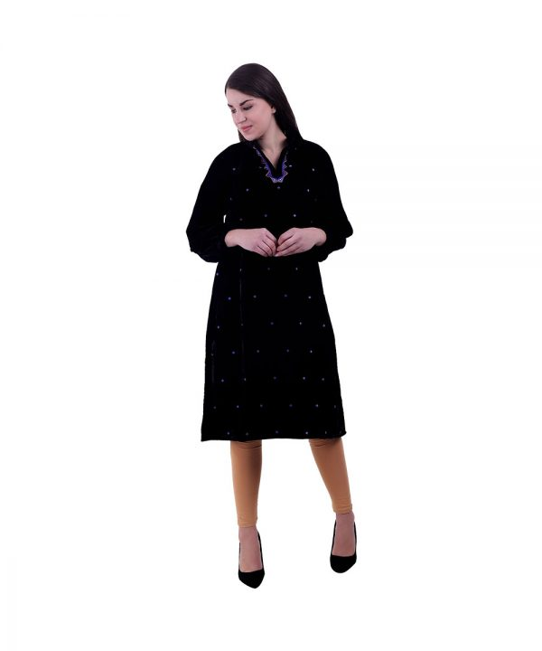 Black Kurta For Women (Gulmohar)