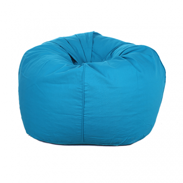 Blue Organic Cotton Bean Bag Cover
