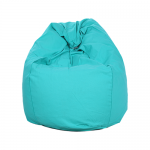 Turquoise Organic Cotton Bean Bag Cover