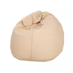 Beige Organic Cotton Bean Bag Cover