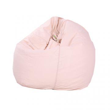 Baby Pink Organic Cotton Bean Bag Cover