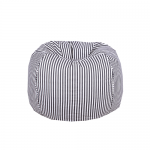 Black and White Strips Organic Cotton Bean Bag Cover