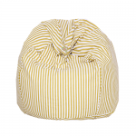 White and Yellow Striped Printed Organic Cotton Bean Bag Cover