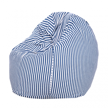 Blue and White Strips Organic Cotton Bean Bag Cover