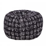 Organic Cotton black pattern Bean Bag Cover