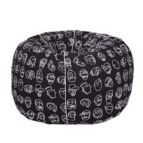 Organic Cotton black pattern Bean Bag Cover
