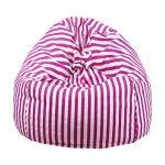 pink white bean bag cover