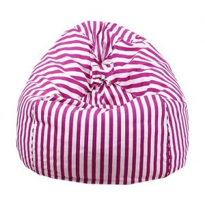pink white bean bag cover