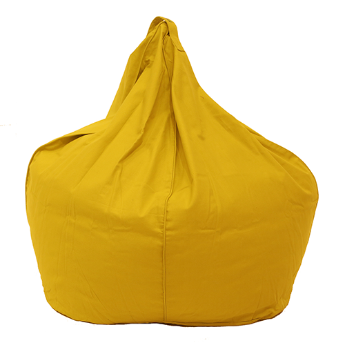 Yellow Organic Cotton Bean Bag Cover
