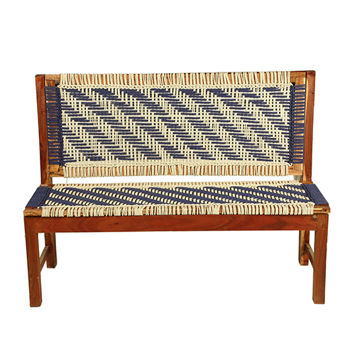 Wooden Knitted Bench