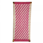 Pink and White Cotton Dori Knitted Charpai