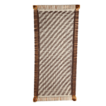 Brown and White Cotton Dori Knitted Charpai
