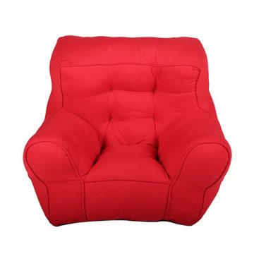 Red Organic Cotton Kid's Sofa