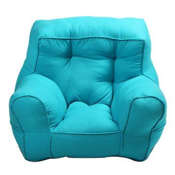 Sky Blue Organic Cotton Kid's Sofa