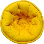 Yellow Solid Organic Cotton Lap Pouf