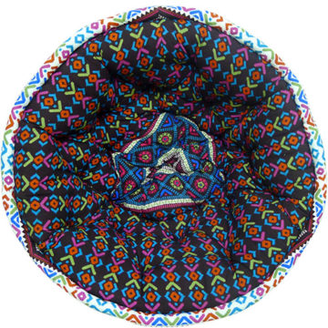 Multi Color Digital Printed Organic Cotton Lap Pouf