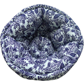 Multi Color Hand Quilted Organic Cotton Lap Pouf