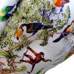 Multi Color Organic Cotton Printed Lap Pouf