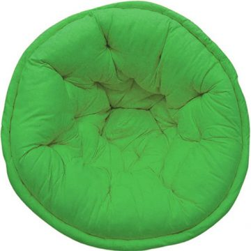 Solid Green Organic Cotton Lap Pouf