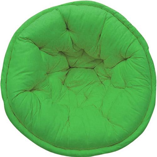 Solid Green Organic Cotton Lap Pouf