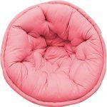 Solid Pink Organic Cotton Lap Pouf