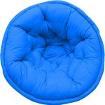 Organic Cotton Solid Dark Blue Lap Pouf