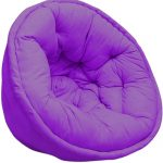 Solid Purple Organic Cotton Lap Pouf