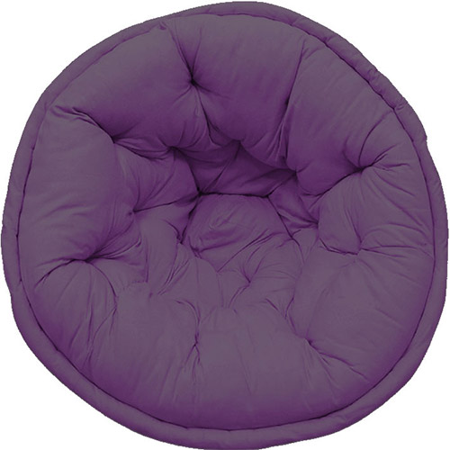 Purple Solid Organic Cotton Lap Pouf