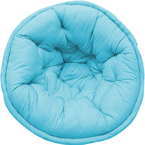 Sky Blue Hand Quilted Lap Pouf