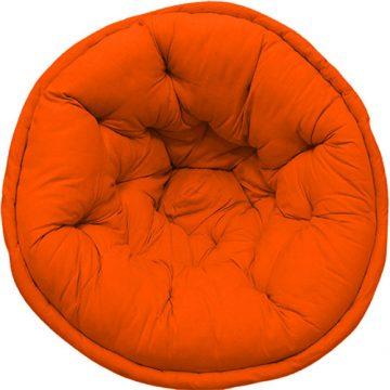 Orange Color Organic Cotton Lap Pouf