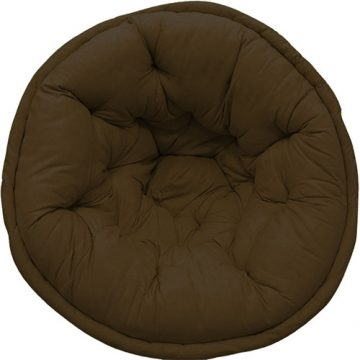 Dark Olive Green Organic Cotton Lap Pouf