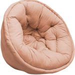 Peach Solid Organic Cotton Lap Pouf