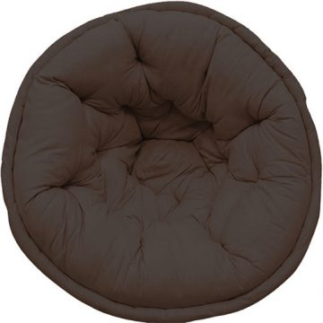 Solid Organic Cotton Dark Brown Lap Pouf