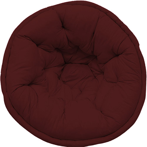 Maroon Hand Quilted Lap Pouf