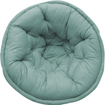 Mint Blue Organic Cotton Lap Pouf