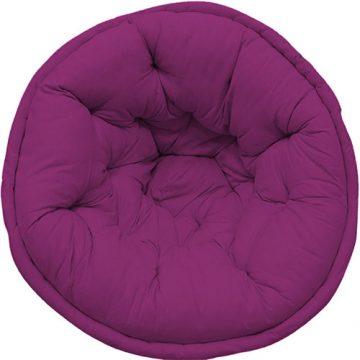 Dark Purple Solid Organic Cotton Lap Pouf