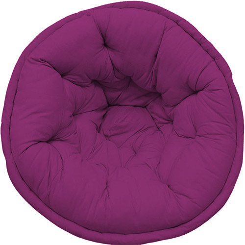 Dark Purple Solid Organic Cotton Lap Pouf