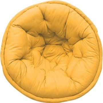 Mustard Yellow Organic Cotton Solid Lap Pouf