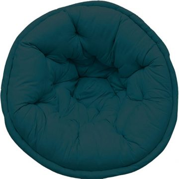 LP-33-2 Solid Teal Organic Cotton Lap Pouf