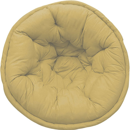 Oat Yellow Organic Cotton Lap Pouf
