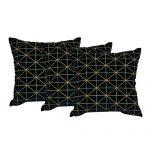 Set of 3 Black Velvet Cushion Cover