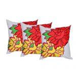 Set of 3 Multi Color Organic Cotton Cushion Cover