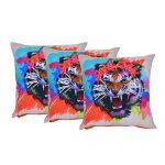 Multi Color Set of 3 Organic Cotton Cushion Covers
