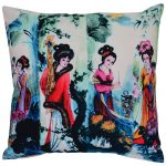 Set of 3 Digital Print Organic Cotton Cushion Cover